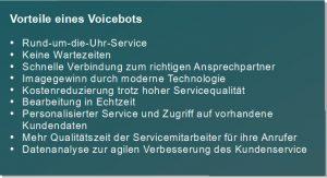 Vorteile eines Voicebots
